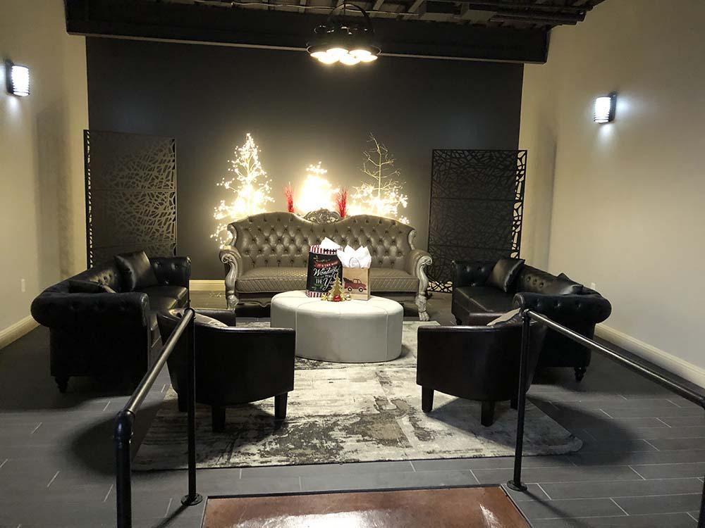 lounge area at venue rental