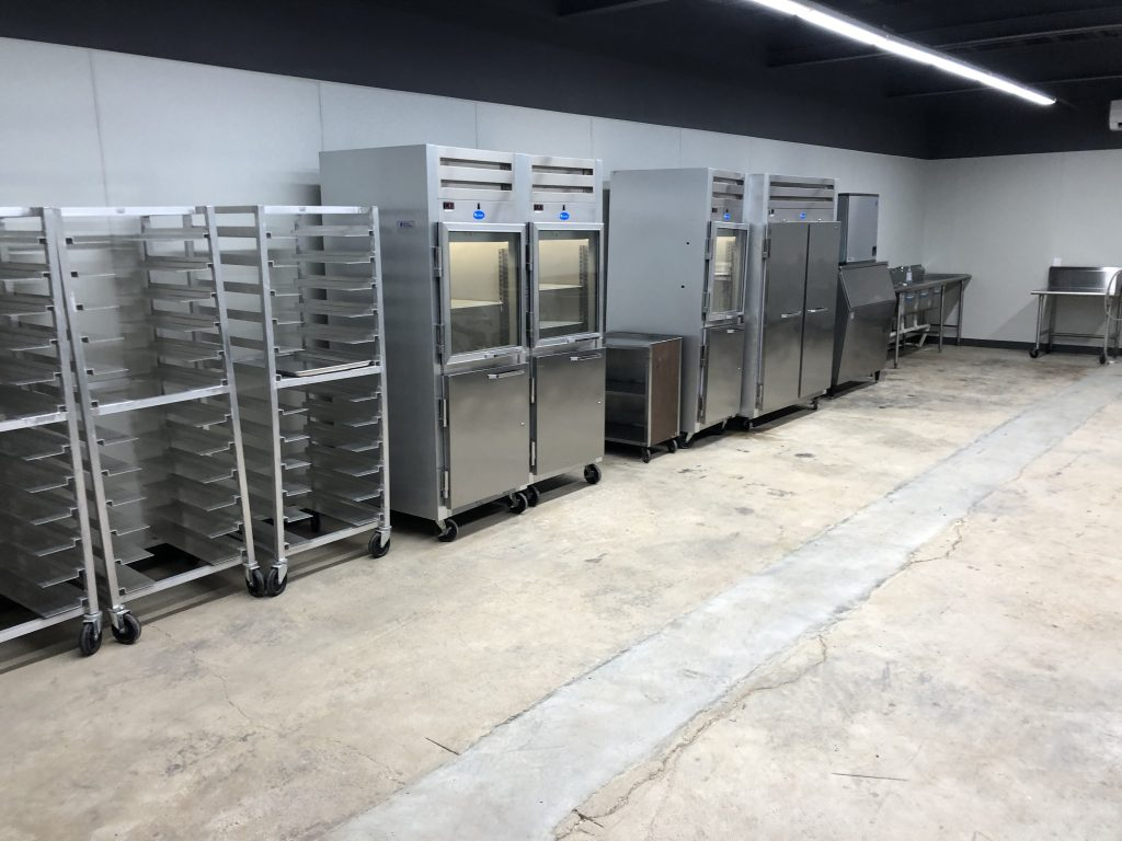 finishing kitchen at fort worth event venue